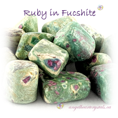 Ruby in Fucshite - Angel Heart Crystals, Cornwall PE