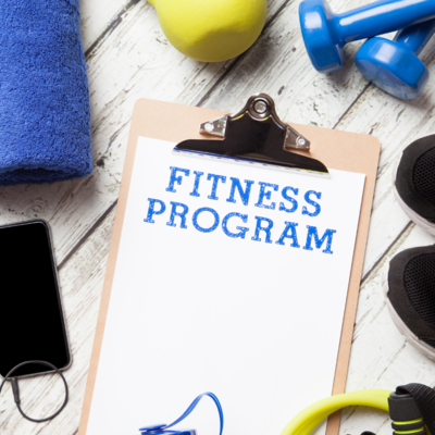 Fitness programming chart with weights